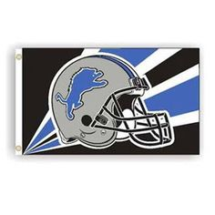 3' X 5'   Detriot Lions Flag with Helmet Design    $29.99 Delivered | NFL Flags | Football Football Football