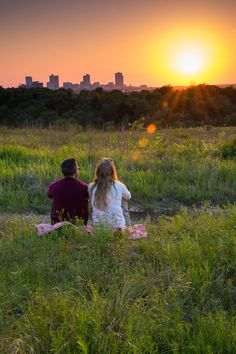 Sunset over Fort Worth from the Tandy Hills Natural Area