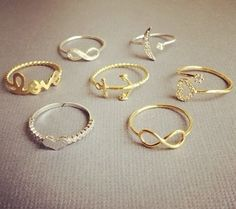 who wants to get me all these little rings!