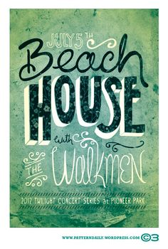 Beach House poster (PatternDaily)