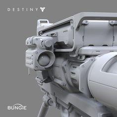 Destiny: Rocket Launcher B FP, David Stammel on ArtStation at https://www.artstation.com/artwork/destiny-rocket-launcher-b-fp