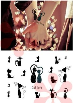 Elegant Temporary Tattoos, Sexy Finger, Shoulder, Neck, Arm Tattoo - Sexy Cat:Amazon:Beauty