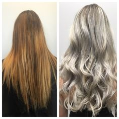 """My guest came in with very blotchy uneven color,"" says Annette Gavidia (@hairbyannetteg), owner of Sei Bella Studio, West Covina, California. ""She arrived with 1 inch of virgin hair and tons of brass.""  Here Gavidia shares the details for this correction: Formula 1: (prelighten) Schwarzkopf Blondme lightener with 30 vol & 1/8 oz Olaplex Formula 2: (prelighten) Schwarzkopf Blondme lightener with 10 vol & 1/8 Olaplex"