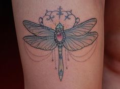 Dragonfly by Giulia Frederica at Don't Tell Mama Tattoo Studio in Parma, IT #tattoo #ink #dragonfly