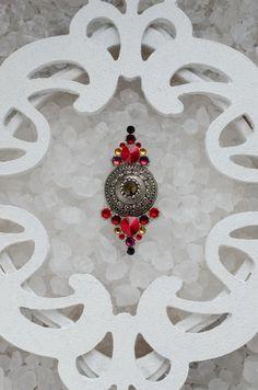 Tribal Bindi hand made with all Swarovski crystals  by TribalBindi