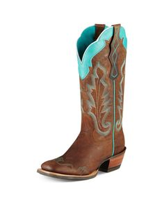 Ariat Women's Caballera Boot - Weathered Brown $200- I think these might look Cute with a dress And jeans