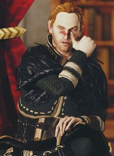 Anders doing the blood stripe....hot.