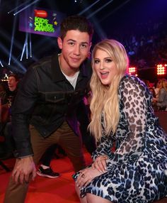Pin for Later: The Best Snaps From the Kids' Choice Awards Nick Jonas and Meghan Trainor