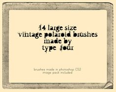 polaroid frame brushes
