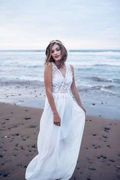 On a cold day in June, several talented wedding professionals gathered together to bring their beach bridal inspiration to life in Lawrencetown, Nova Scotia. Keeping it simple, they used the stunning backdrop of crashing waves to showcase their inspiratio Crashing Waves, Cold Day, Nova Scotia, Photo Shoot, Backdrops, White Dress, Weddings, Bridal, Lace