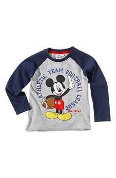 Lækre Disney Mickey Mouse T-shirt Marine Gråmeleret Disney Mickey Mouse T-shirt til Børn & teenager i lækker kvalitet
