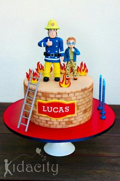 Fireman sam Cake #Fireman #Sam #cake