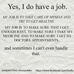 Our job is to take  care of ourselves!!... - MS Memes and more Multiple Sclerosis Information | Facebook