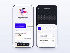 Daily UI 71 — Schedule designed by Rebecca Norén. Connect with them on Dribbble; App Ui Design, Web Design, Calendar Ui, To Do App, Schedule Design, Daily Ui, Show And Tell, Digital Illustration, Presentation