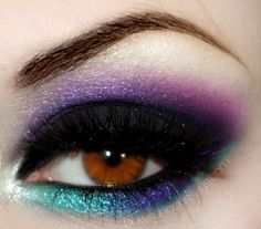 Eyeshadow: Purple & Teal