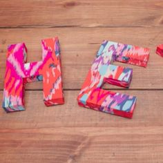 Irresistible Ikat Letters. If you're anxious to make your own ikat letters, let us help.