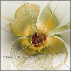 "Abstract flower artwork ""Abstract Flower With Silky Elegance"", digital art (fractal) by Karin Kuhlmann."