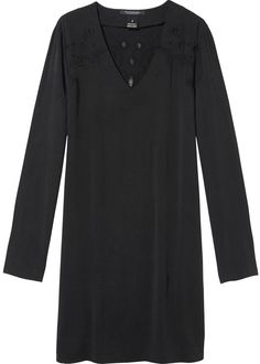 Maison Scotch Kjole sort 102249 Tencel Mix Dress - black – Acorns
