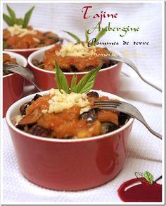 Après le tajine aux epinards , le tajine de chou fleur , le tajine de pommes de terre, voici une autre recette de tajine facile et délicieux . Ingrédients 4 pommes de terres coupées en petits cubes et frites 1 gros aubergine coupe en gros cubes et frit...