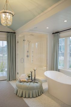 Master Bathroom in the 2015 HGTV dream home on Martha's Vineyard - Cuckoo4Design
