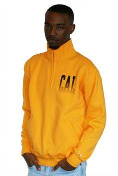 Cal Block  1/4  Zip Fleece