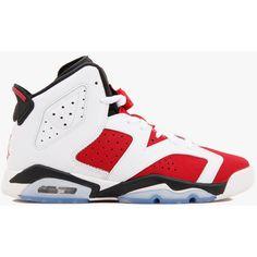 16615f1c11ac Nike Air Jordan 6 Retro BG (GS) Carmine ( 339) ❤ liked on Polyvore  featuring shoes