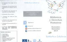 """""""Biblioteca y Derechos Humanos"""" Actividades y libros sobre los derechos humanos en la Biblioteca Pública de Cuenca """"Fermín Caballero"""" noviembre/Diciembre 2014 dentro de la programación de """"Biblioteca Solidaria"""" #Cuenca #Libros #BibliotecaPublicaCuencaFerminCaballero #BibliotecaSolidaria"""