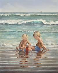 Image result for kids building sandcastles at beach