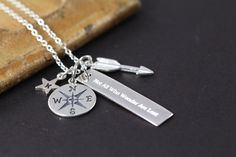 Not All Who Wander are Lost Necklace, 925 Sterling Silver Engraved Jewelry by ShinyLittleBlessings on Etsy https://www.etsy.com/listing/399700155/not-all-who-wander-are-lost-necklace-925