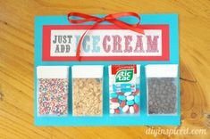 Cute idea! Repurpose old tic tac boxes to make a mini ice cream toppings bar.