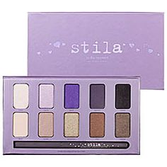 Stila - In The Moment Eye Shadow Palette - This is a great combo for me. I have green eyes, so I think these shades would be perfect (I am sure they would be great for other eye colors too) and it's a mix of neutrals and my favorite *pop* color, purple! <3