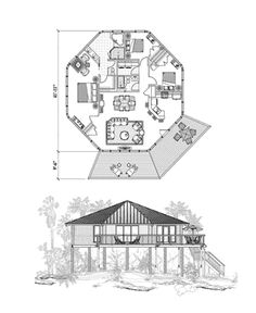 octagon house plans build yourself | octagon building … | house id…