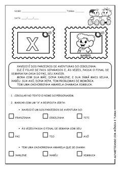 Alfabetizando com Mônica e Turma: Atividades de interpretação com personagens - V, W, X