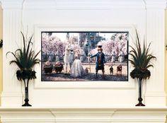 An Elegant Fireplace TV Mount — Theater Advice  IrvineHomeBlog.com ༺ℬ༻ #Irvine #RealEstate #FirePlace