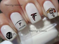 Atlanta Falcons Nail Decals by ThirstyWillow on Etsy, $2.75