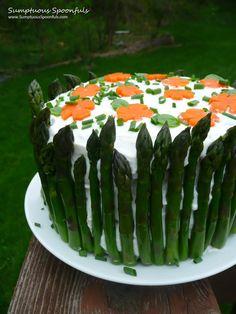 Savory Sandwich Cake {Smorgastarta} ~ Sumptuous Spoonfuls #sandwich #recipe