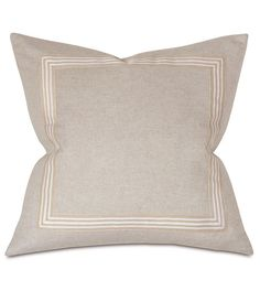 Decorative Pillow Oatmeal Border Square from Eastern Accents & THOM FILICIA