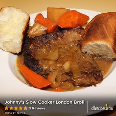 Trending on Allrecipes: Johnny's recipe for Slow Cooker London Broil, an easy weeknight one-dish meal with a delicious gravy.