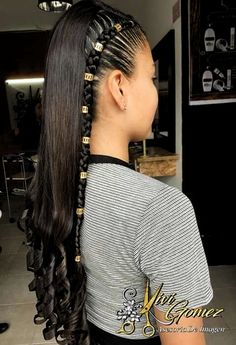 Baddie Hairstyles, Teen Hairstyles, Braided Hairstyles, Black Hairstyles, Braids With Curls, Braids For Long Hair, School Hairstyles For Teens, Short Haircut Styles, Aesthetic Hair