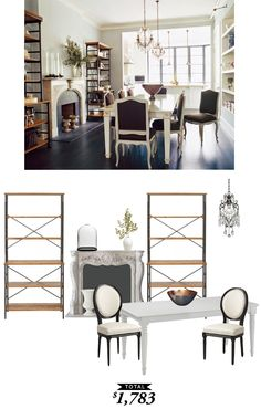 This stately dining room from @dominomag was recreated for $1783 by @audreycdyer for Copy Cat Chic