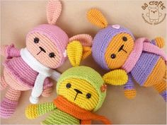 Amigurumi Colorful Bunnys-Free Pattern