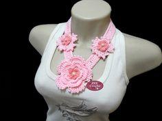 flor aninha em croche | de-croche-flor-ana-tons-de-rosa-colar-de-flor colar-de-croche-flor-ana ...