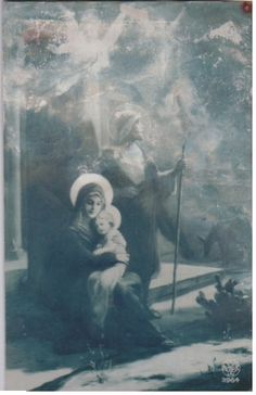 Sweet Holy Family...Mary adoring her Child...Joseph the protective father