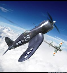The Chance Vought Corsair was a fighter aircraft that saw service in World War II and the Korean War. In this pic you see it having shot down a Corsair Kill Ww2 Aircraft, Fighter Aircraft, Military Aircraft, Air Fighter, Fighter Jets, Fighting Plane, Propeller Plane, Navy Carriers, F4u Corsair