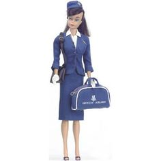 Vintage Barbie American Airlines Stewardess  1961-1964
