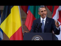 "OBAMA's NEW WORLD ORDER SPEECH in Brussels ""Freedom isnt Free""  4/28/14  g"