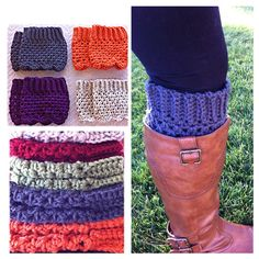 Charcoal gray boot cuffs on Etsy, $10.00
