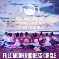 Goddess Circles are for women empowering women and setting intentionshellip