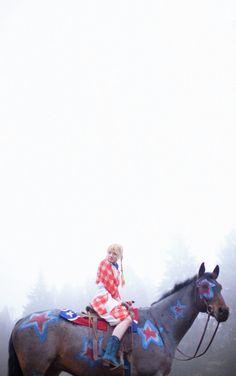 'Americana' photograph by Olivia Bee. Olivia Bee, Vice Magazine, Teenage Wasteland, Pippi Longstocking, American Women, American Fashion, New Journey, Farm Yard, Teenage Dream