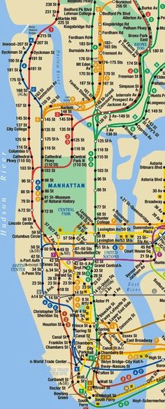 Manhattan Subway Map Printable